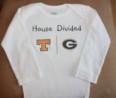 College sports team House divided onesie or toddler by PolkaDautz, $12.00