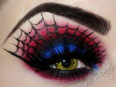artistic make up, wedding eyes, spider webs, eye makeup, halloween makeup, spider man, makeup ideas, makeup art, halloween eyes