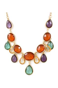 love the fall jewel tones in this necklace