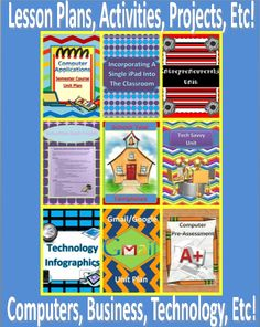 http://www.teacherspayteachers.com/Store/Tech-Twins  Check out over 40 + Lessons Plans, Activities, Projects, Semester Units, Training, Etc covering topics from Business, Technology, and Computers.
