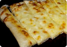 10 minute cheesy breadsticks with only 3 ingredients!