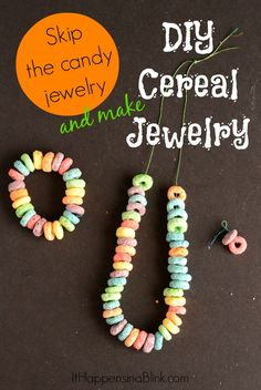 DIY Cereal Jewelry