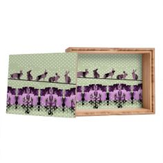 Randi Antonsen Playing Hares In The Snow Jewelry Box | DENY Designs Home Accessories
