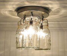Vintage Mason Jar lighting