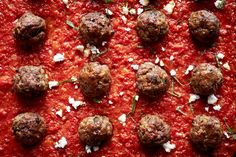 Recipe: Lamb meatballs with spiced tomato sauce || Photo: Christina Holmes for The New York Times