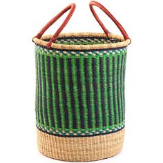 "Ghana Bolga Laundrey Basket, 15"" diameter, $81"