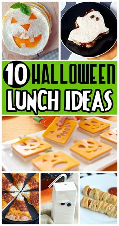 Cute and creative ideas for a fun Halloween lunch. The kids would love this!