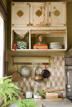 Chippy Kitchen Cabinet