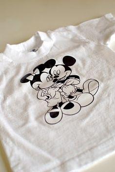 DIY Disney Shirts-The NO-SEW Version!
