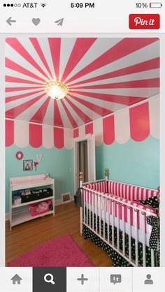 Circus tent ceiling