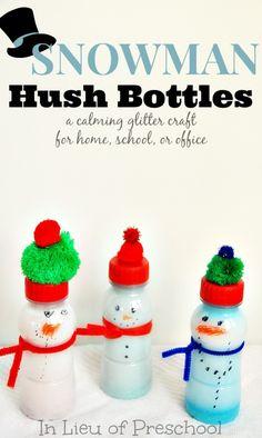 hush bottl, glitter crafts, preschool, kid