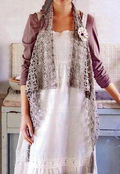 Elegante Fácil ganchillo: Tejer Chaleco Patrón Gratuito para las mujeres - con estilo y fácil