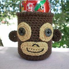 Monkey Soda Can Cozy
