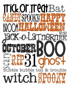 {Free Halloween Printable}