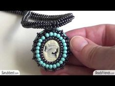 Beaded necklaces: necklaces made using cabs, cameos and crochet ropes | Beaded Jewellry - YouTube