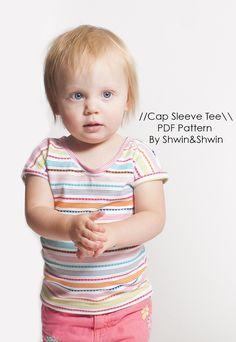 Cap Sleeve Baby Tee || Free Pattern