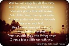 Take A Little Ride - Jason Aldean | Favorite Country Lyrics