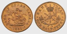 Found one of these, and a few other old coins while cleaning out my room. Bank of Upper Canada 1/2 Penny Bank Token 1852