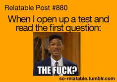 When I open up a test.... :P