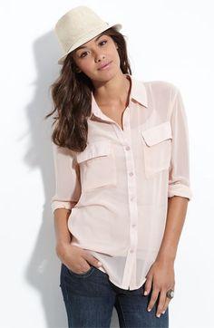 blush blouse, so cute!