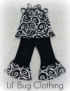 Black and white swirls outfit Sewing Outfits, Custom Boutiqu, Girls Boutique Clothing, Bug, Boutiqu Outfit, Kids Boutique Clothing, Girl Boutique Outfits, Boutiqu Girl