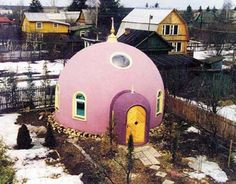 tiny pink dome home.
