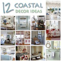 12 Coastal Decorating Ideas @Vanessa Mayhew & CraftGossip