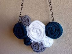 DIY necklace! I want to make these in a bunch of different colors to match everything!