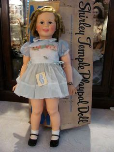 """PRISTINE 1959 Shirley Temple PlayPal 36"""" All Original, IDEAL DOLL_Mint In Box"""
