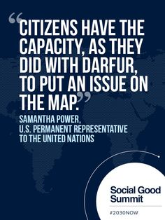 Ambassador Samantha Power - 2013 Social Good Summit #2030NOW