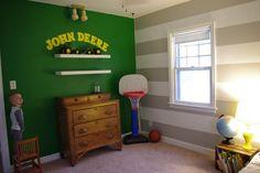 john deere bedroom - Google Search Kids Bedrooms, Kiddos Rooms, Boys Bedrooms, Big Boys, Boys Rooms, Kids Crafts, Grandson Bedrooms, Deer Bedrooms, Kids Rooms