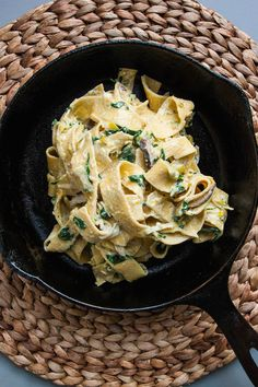 Pappardelle with Spring Vegetables and Cream Sauce