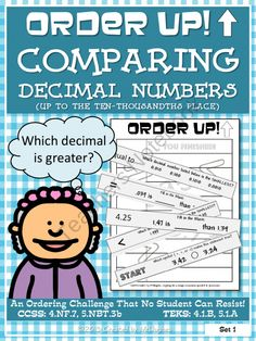 Order Up! Comparing Decimal Numbers from MrHughes on TeachersNotebook ...