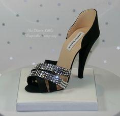 @KatieSheaDesign ♥  Black Gumpaste Shoe #Cake Topper By CleverLittleCupcake on CakeCentral.com