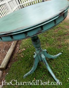 The Charmed Nest: turquoise table