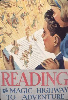Official Children's Book Week poster, 1937, Kenneth S. Fagg, (1901-1890)