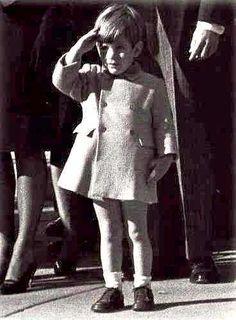 JFK, Jr. salutes his father's casket--November, 1963