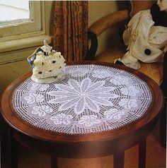 Beautiful White Crochet Doily, Crochet Table Center, Crochet Lace Doily, Victorian, Rustic