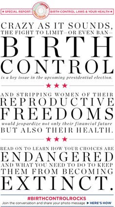 Birth Control Rights & Your Health