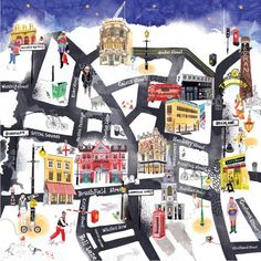 Map of London that was used as an Advent calendar