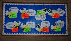 Bee Attitudes.  Summer Church Bulletin Board.