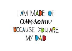 "#fathersday Card ""Made of Awesome"" Digital Card by PrintandPrettify"