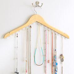 Jewelry hanger from coat hanger