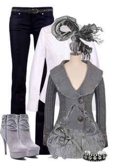 """""""Shades of Grey"""" by johnna-cameron on Polyvore"""