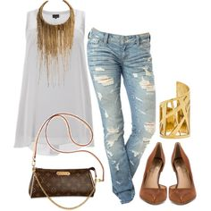 This outfit is for Plus Size and normal size. Any body shape can rock this! :)