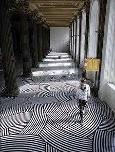 jim lambie floor installation
