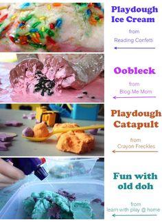 fun collection of playdough activity ideas