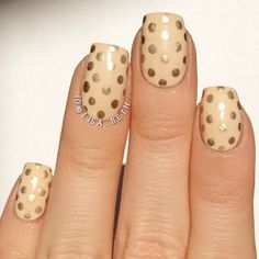 #nails #nailcare #nailart #beauty #women #fashion #polkadots