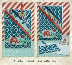 Double Pocket Card with Tags by Bronwyn Eastley http://addinktivedesigns.blogspot.co...le-pocket.html