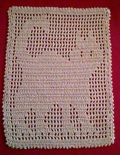 Filet crochet Cat Doily